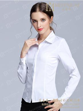 <b>职业白色春秋衬衣女士衬衣</b>